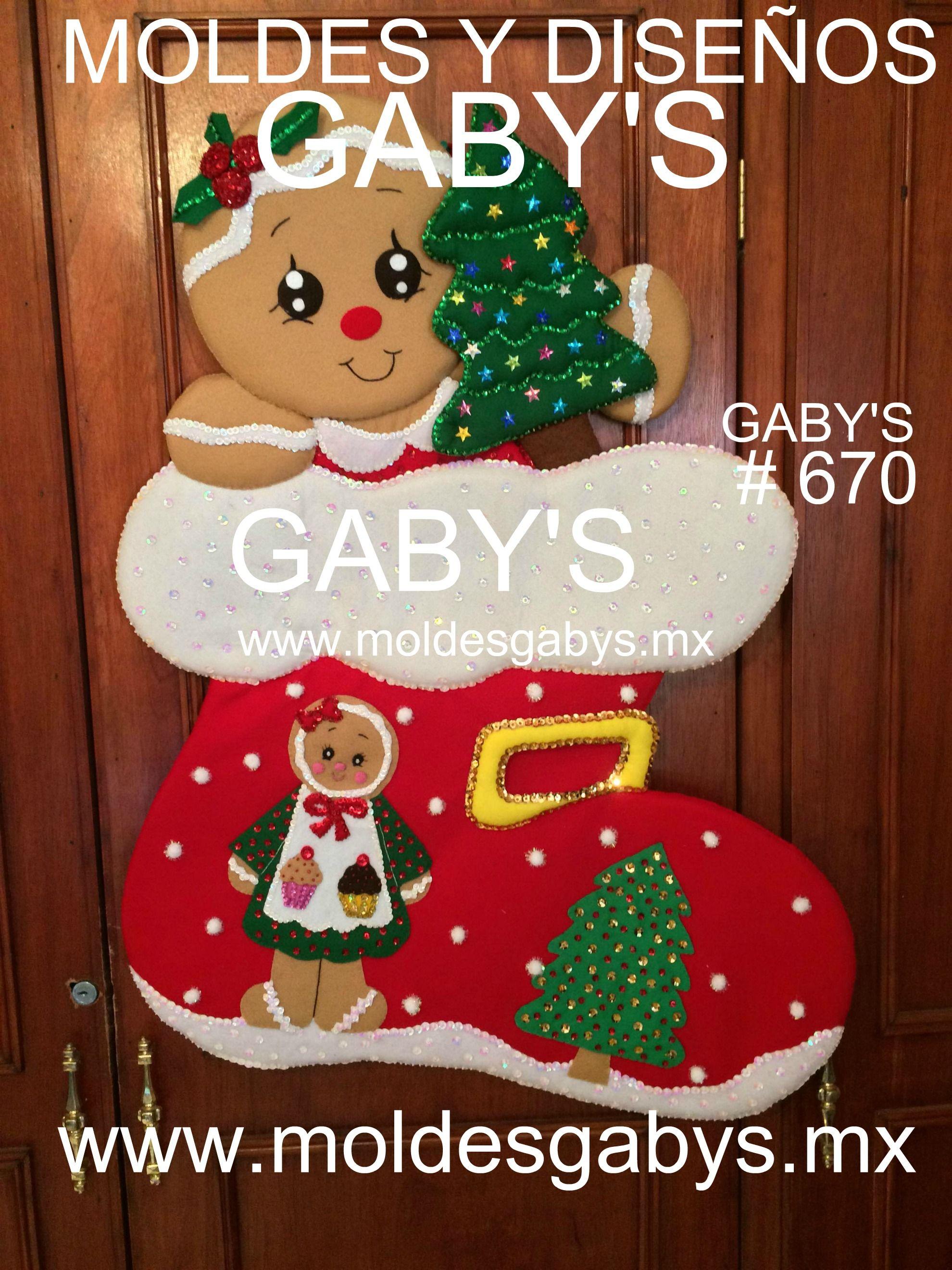 Bota con galleta genjibre y moldes calcetines navidad for Navidad adornos manualidades navidenas