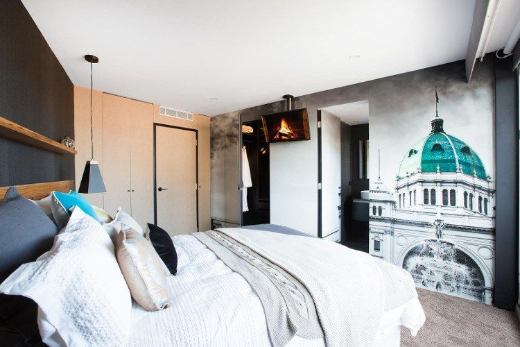 The Blocktagon Bedroom and Ensuite Reveals Suzi and Vonny Bedroom Wall