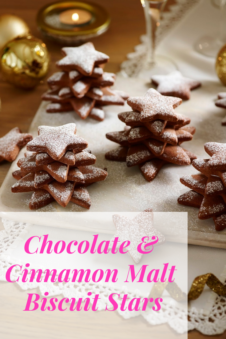 Chocolate And Cinnamon Malt Biscuit Stars Christmas Delicious