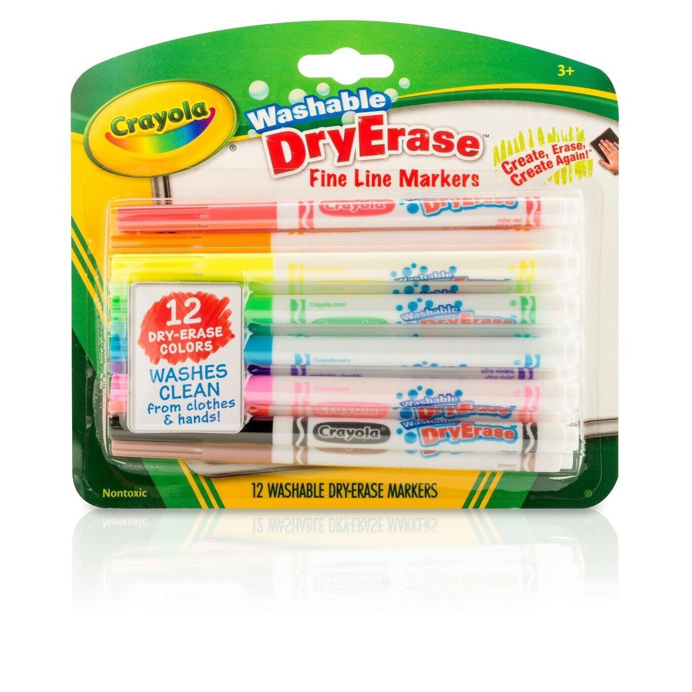 Crayola 98 Washable Dry Erase Fine Line Markers 12