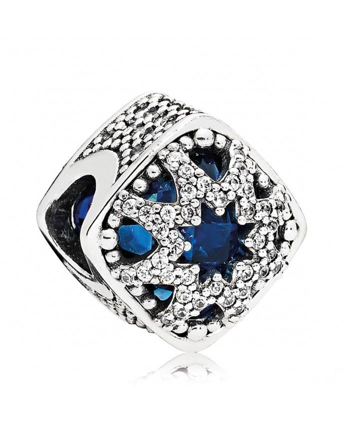 f7b751278 Pandora Dazzling Snowflake Twilight Blue Charm Sale | pandora ...