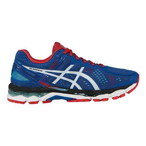 tilata ostokset lika halpaa ASICS Men's Gel Kayano 22 Running Shoe, Blue/White/Fiery Red ...