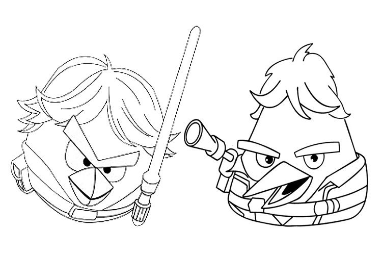 Angry Birds Star Wars Coloring Pages Free Star Wars Coloring