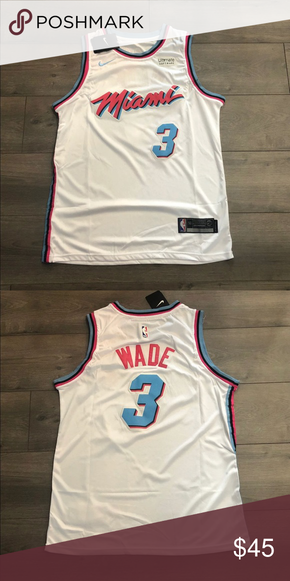 meet 6b7aa 572ea Dwayne Wade Miami Heat / Miami Vice City Jersey 🔥 Brand New ...
