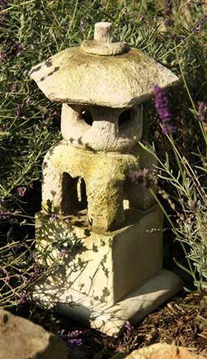 Oriental Lantern House Sculpture, Statue Statuary For The Garden   Outdoor  Décor For Sale At AllSculptures.com