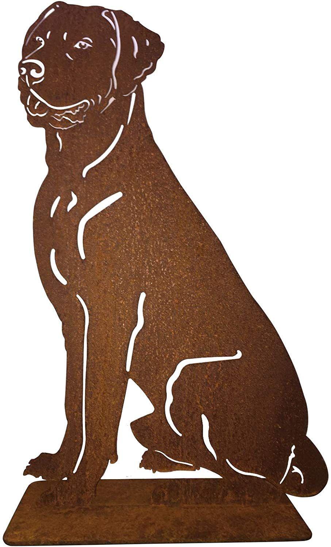 Terma Stahldesign Rostfigur Labrador Edelrost Gartenfigur 74c M Amazon De Garten Tier Schablone Labrador Tierbilder