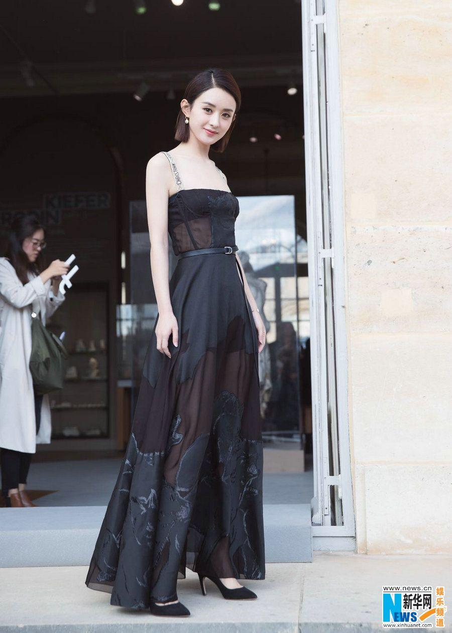 Street shots of Zhao Liying in Paris (Có hình ảnh) Nữ