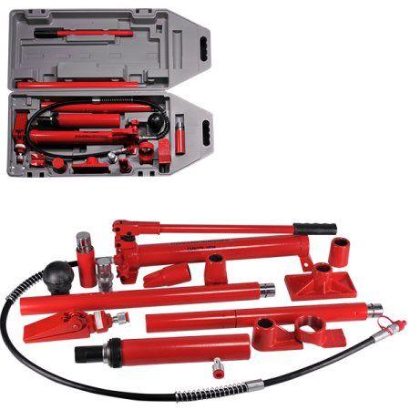 Hiltex 10 Ton Porta Power Hydraulic Air Pump Spreader Ram Blow Mold Case W Wheels Walmart Com Auto Body Repair Air Pump