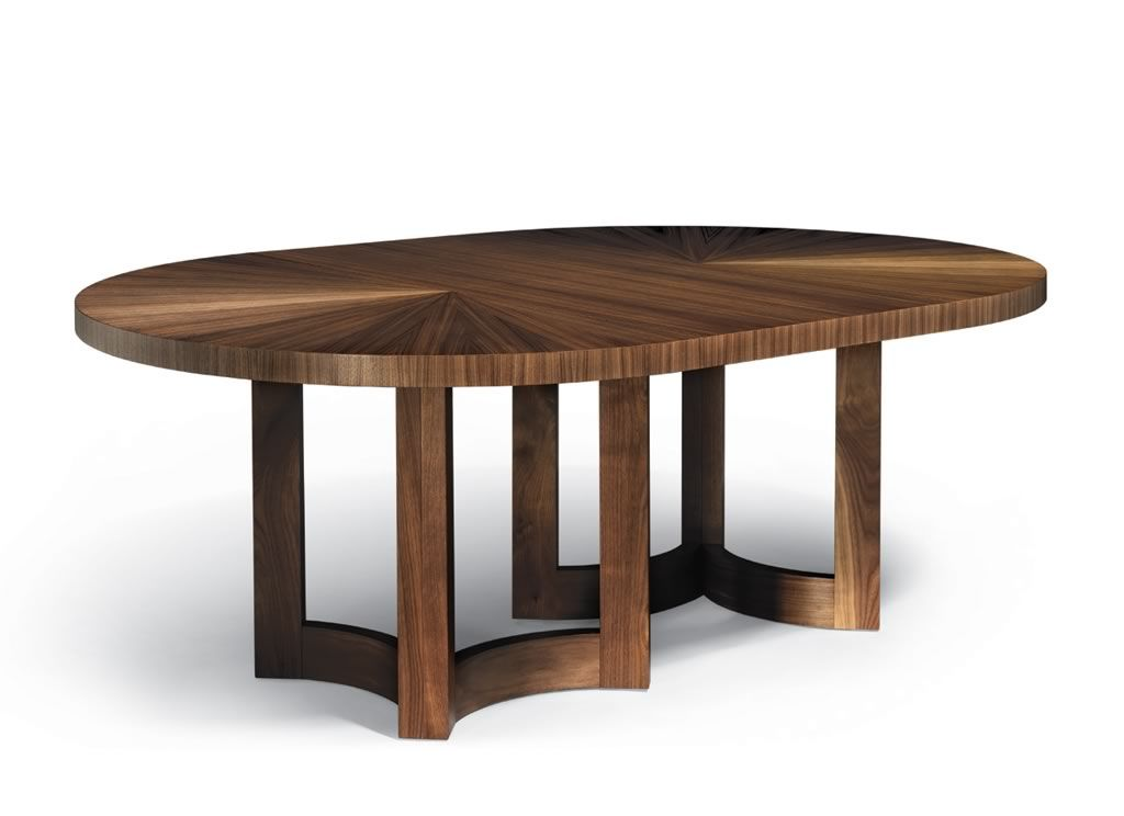 Altura Nexus Round Extension Table Shown In Grey Walnut With