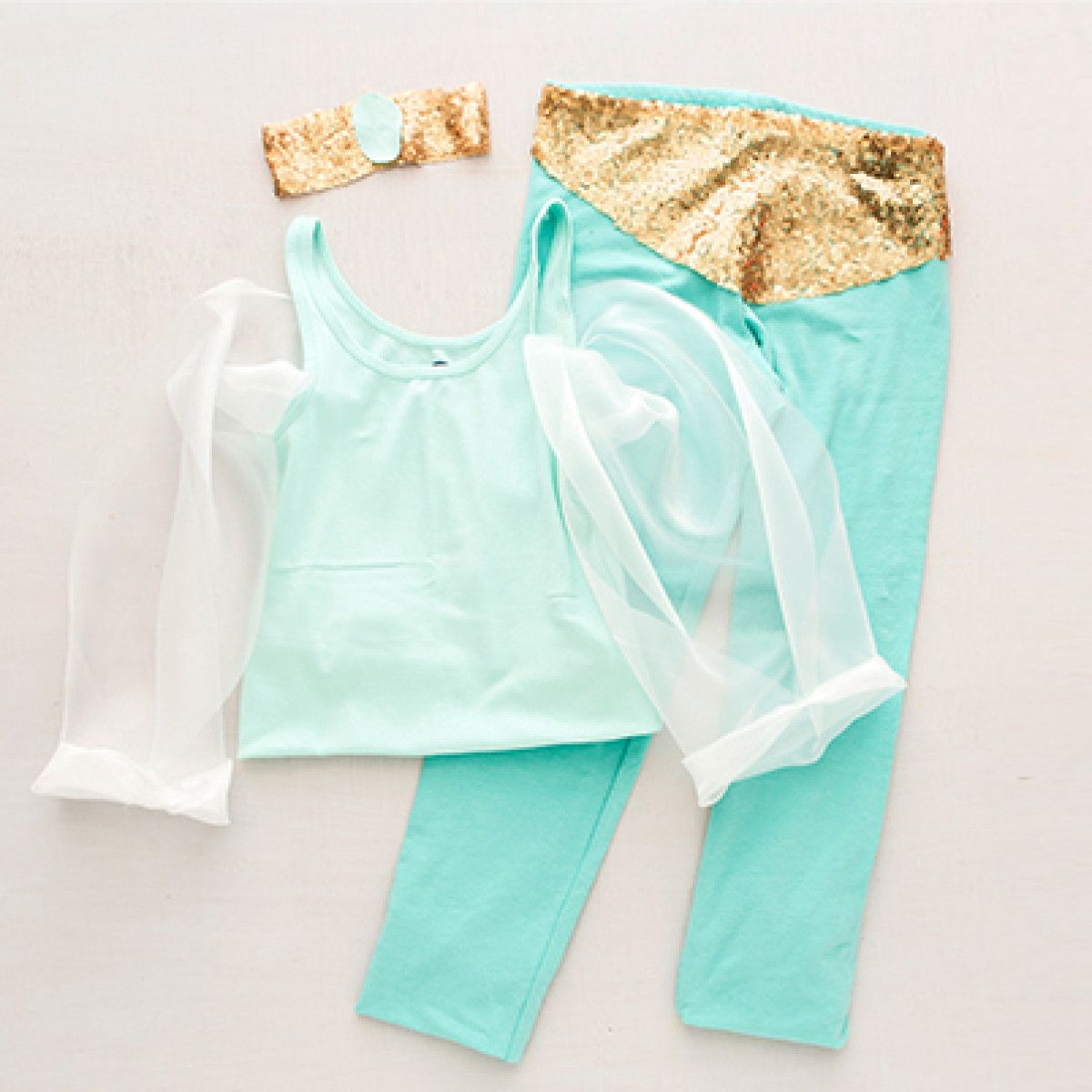 DIY Princess Jasmine Costume | Disney Family & DIY Princess Jasmine Costume
