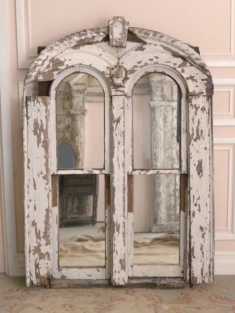 salvaged doors turned mirrors & salvaged doors turned mirrors | Love it white | Pinterest | Arch ...
