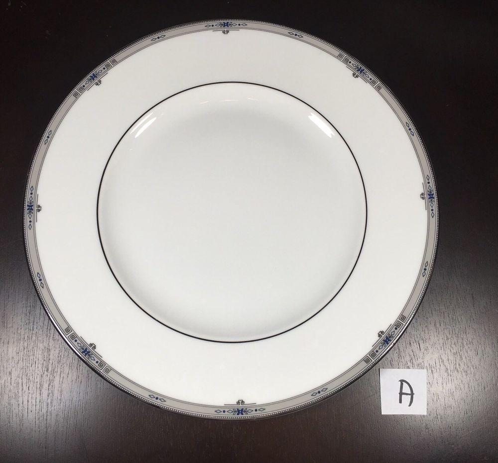 Wedgwood Bone China 10 Inch Dinner Plate AMHERST Platinum Rim (a) #Wedgwood # & Wedgwood Bone China 10 Inch Dinner Plate AMHERST Platinum Rim (a ...