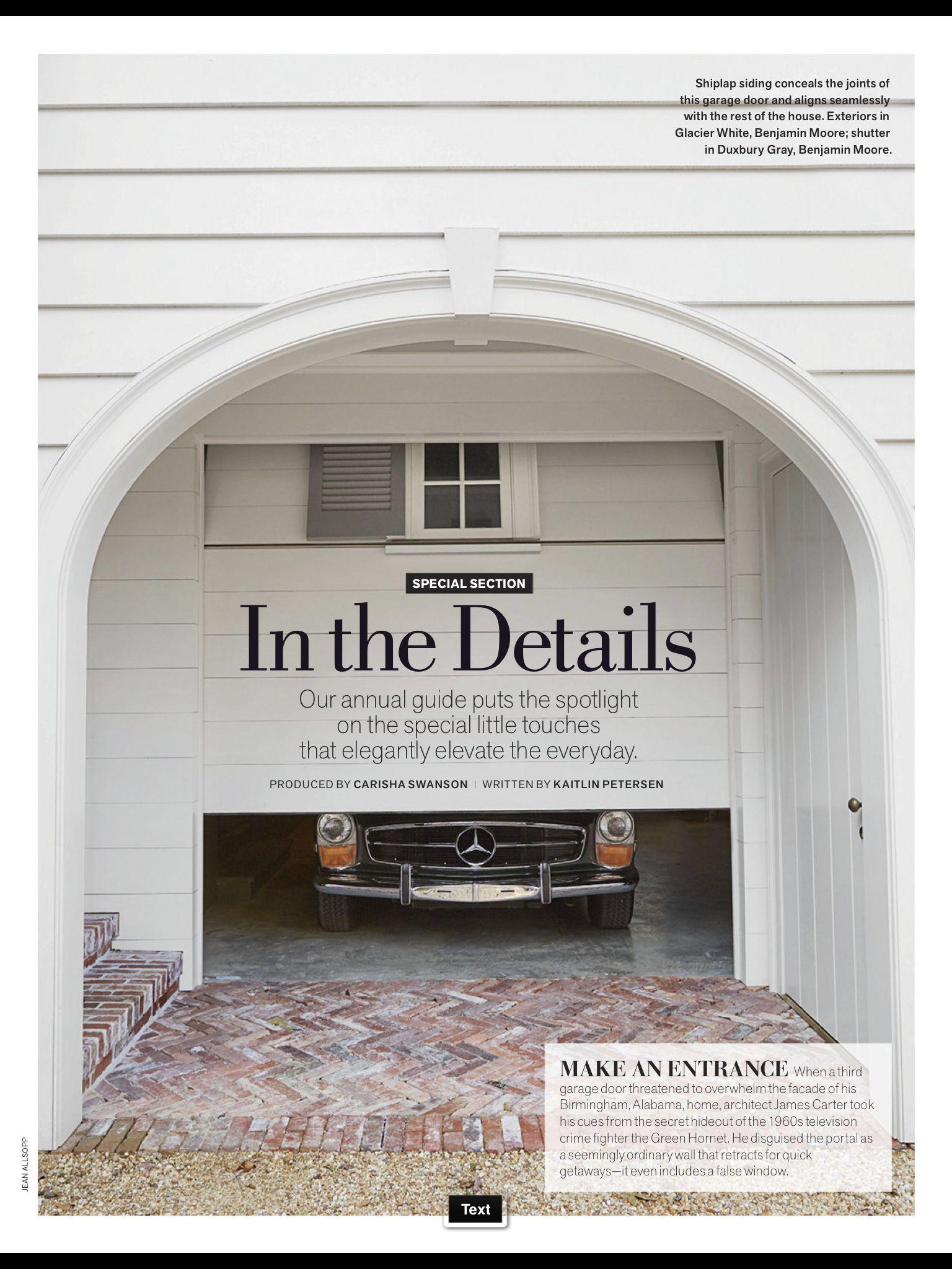 Veranda Magazine Concealed Garage Door Garage Pinterest