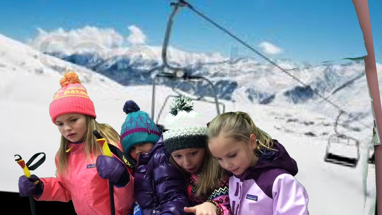We took ski lift green screen photos for a classroom holiday we took ski lift green screen photos for a classroom holiday greeting card kristyandbryce Images