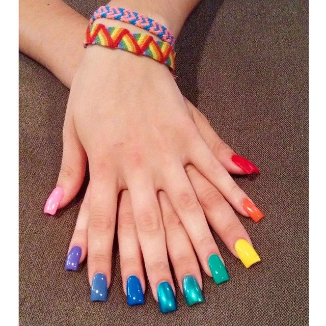 This Rainbow Nail Art Is A Bright Display Of Gay Pride Beauty