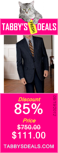 Joseph A. Bank 2 Button Tailored Fit Coat Set with Plain Front Trousers $111.00