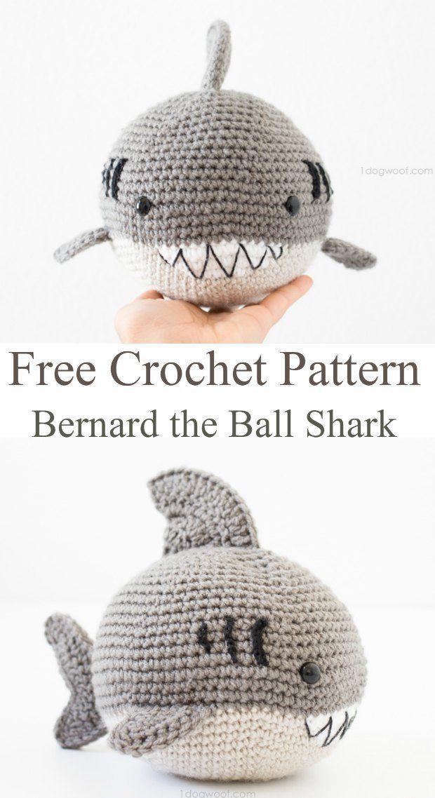 Crochet Shark Amigurumi Free Pattern | Tejido, Patrones amigurumi y ...