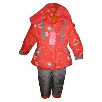 infant girl snowsuits red-black