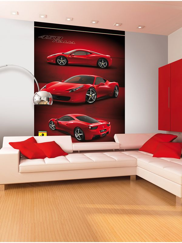 Ferrari Wall Mural 2 32m X 1 58m Kids Bedroom Transform Any Room With This Awesome Ferrari Wall Mural T Feature Wallpaper Wallpaper Bedroom Mural Wallpaper