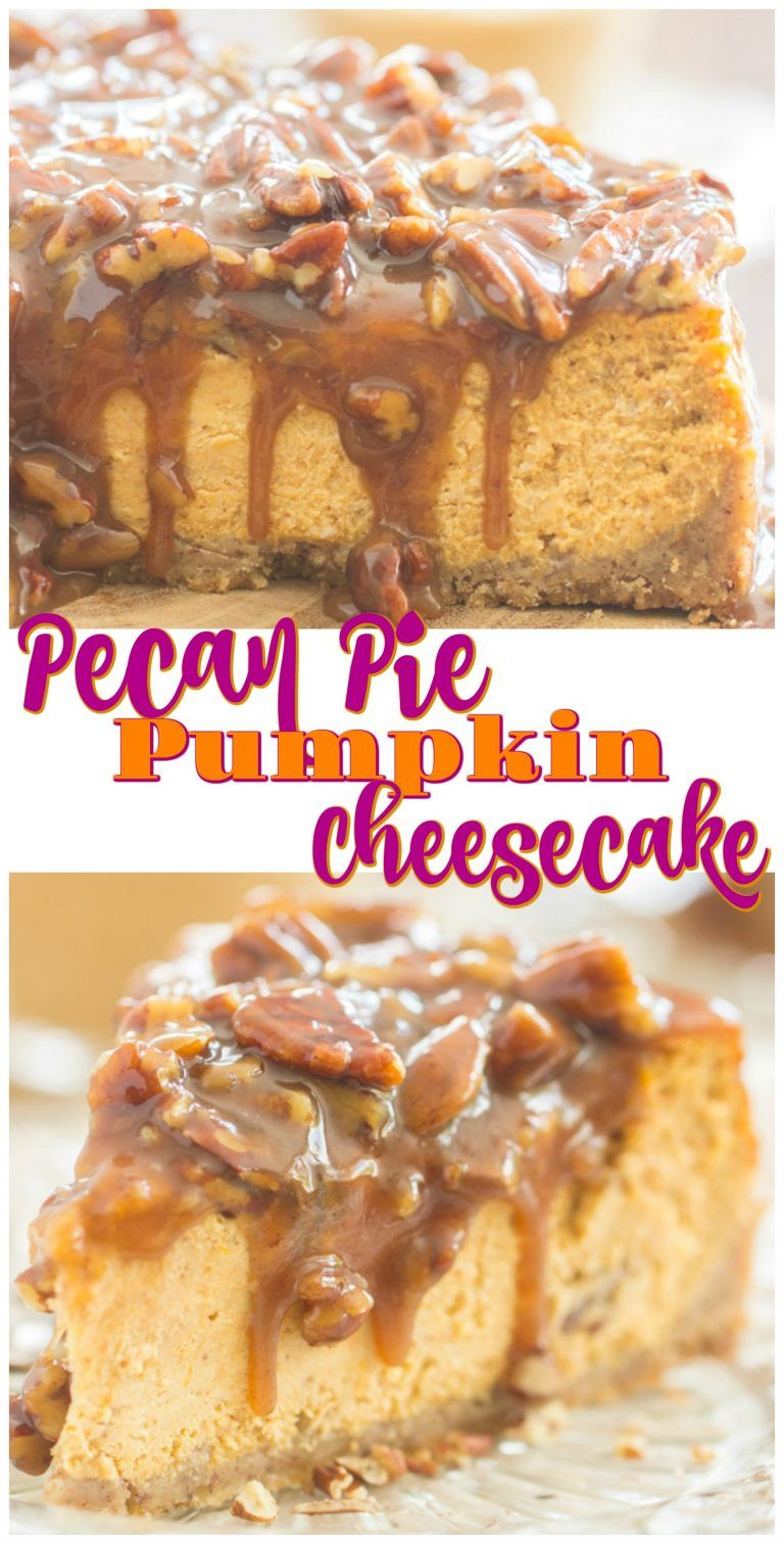 Pecan Pie Pumpkin Cheesecake - The Gold Lining Girl #pecanpiecheesecakerecipe