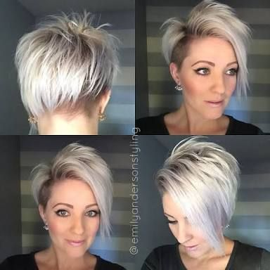 Image result for asymmetrical pixie haircuts with grey hair | Fine ...