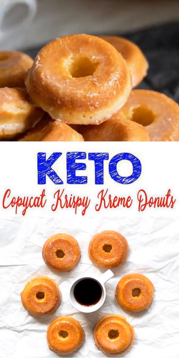 Keto Donuts   Super Yummy Low Carb Copycat Krispy Kreme Donut Recipe   Glaze Donuts For Ketogenic Diet