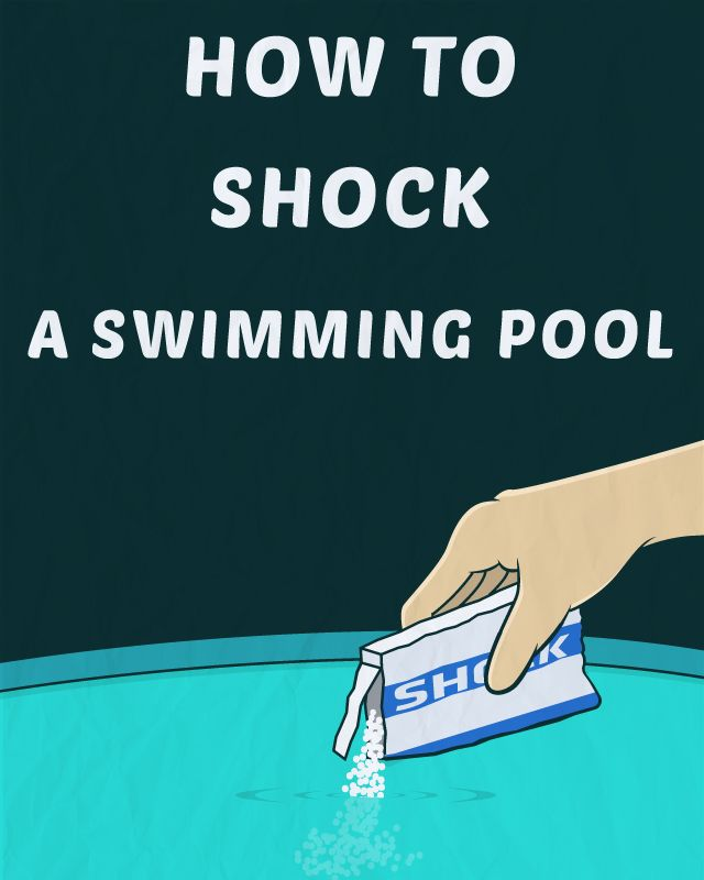 How to shock a swimming pool pool pinterest swimming pools swimming and swimming pool for Swimming in pool after shocking