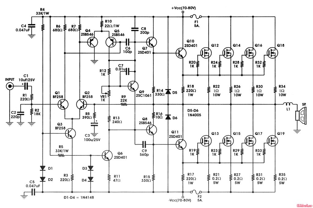 600 Watts Amplifier Schematic Diagram Https www google co uk
