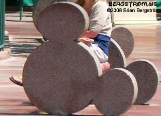 Hidden Mickey bench but i found those when I was there
