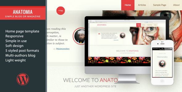 Anatomia–Simple Blog Or Magazine | Simple blog, Wordpress and Template
