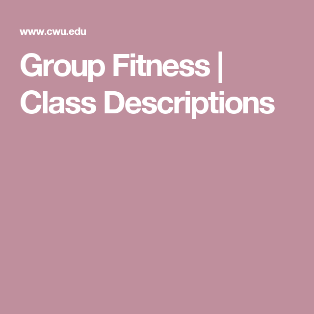 Group Fitness | Class Descriptions
