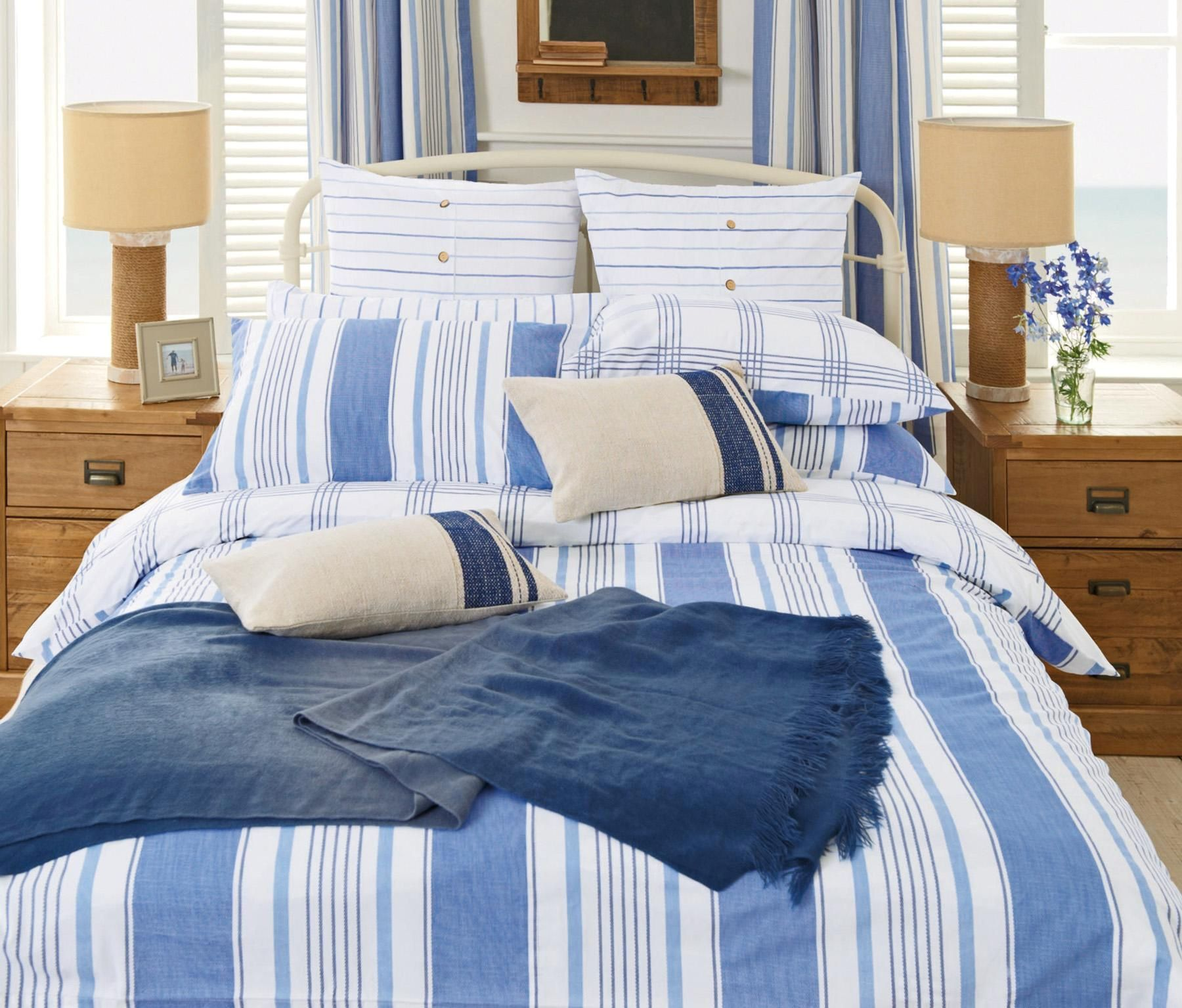 Buy Navy Stripe Bed Set Two Pack From The Next Uk Online Shop