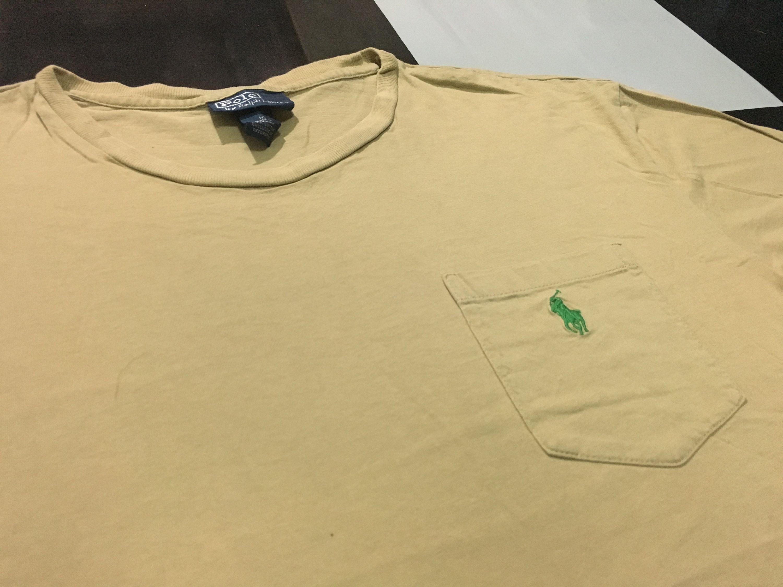 Green Pocket T Lauren Pony Small Polo Ralph Shirt Vintage Beige deBrCoxW