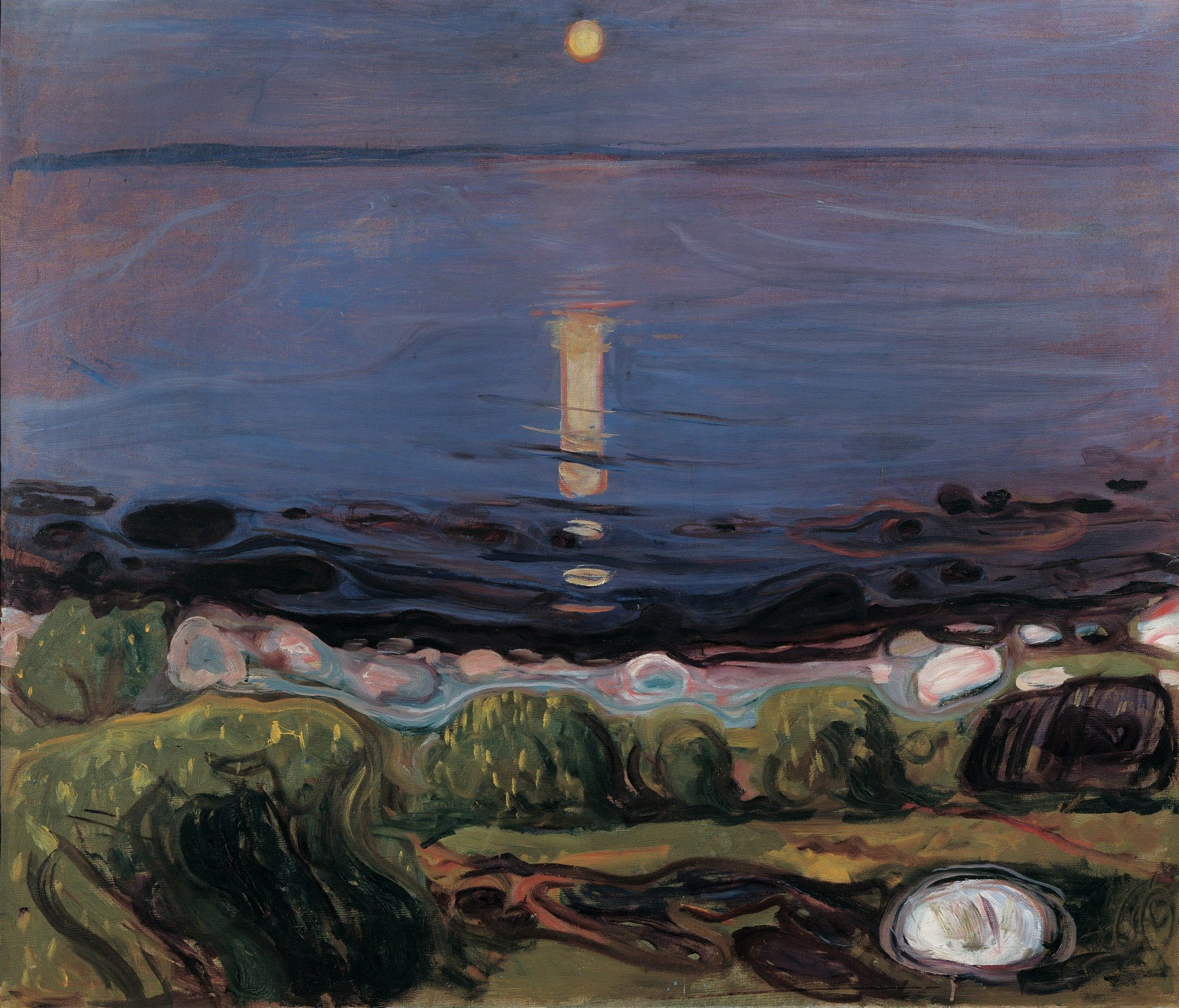 Edvard Munch Summer Night by the Beach 1902-03 Oil on canvas 103 x 120 cm Private collection