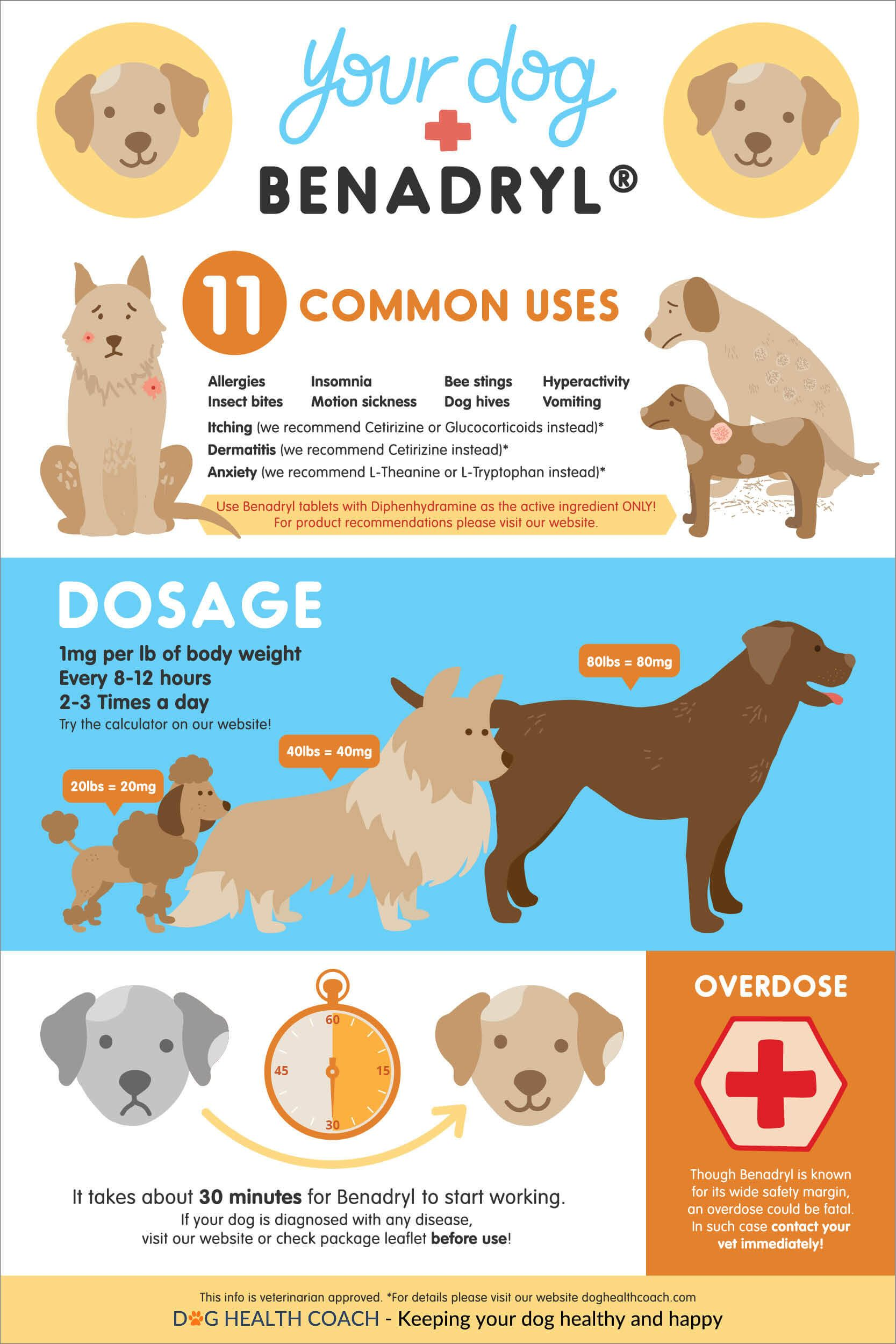 dog dosage | benadryl for dogs: uses, side effects, dosage, overdose