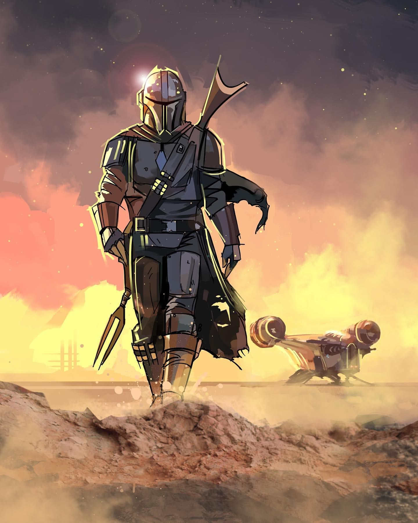 The mandalorian by eli hyder venamis star wars pictures