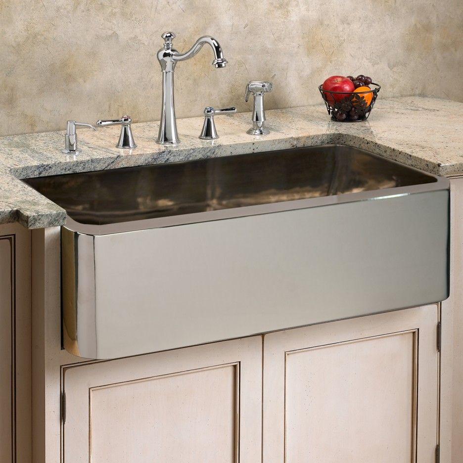Gorgeous Farmhouse Sink Vs Stainless Steel Apron Front Kitchen