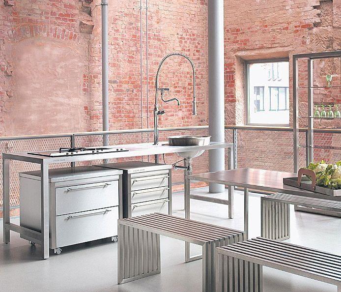 Moderne Küche aus Edelstahl PHILIPP PLEIN   Ideen Ettlingen ...