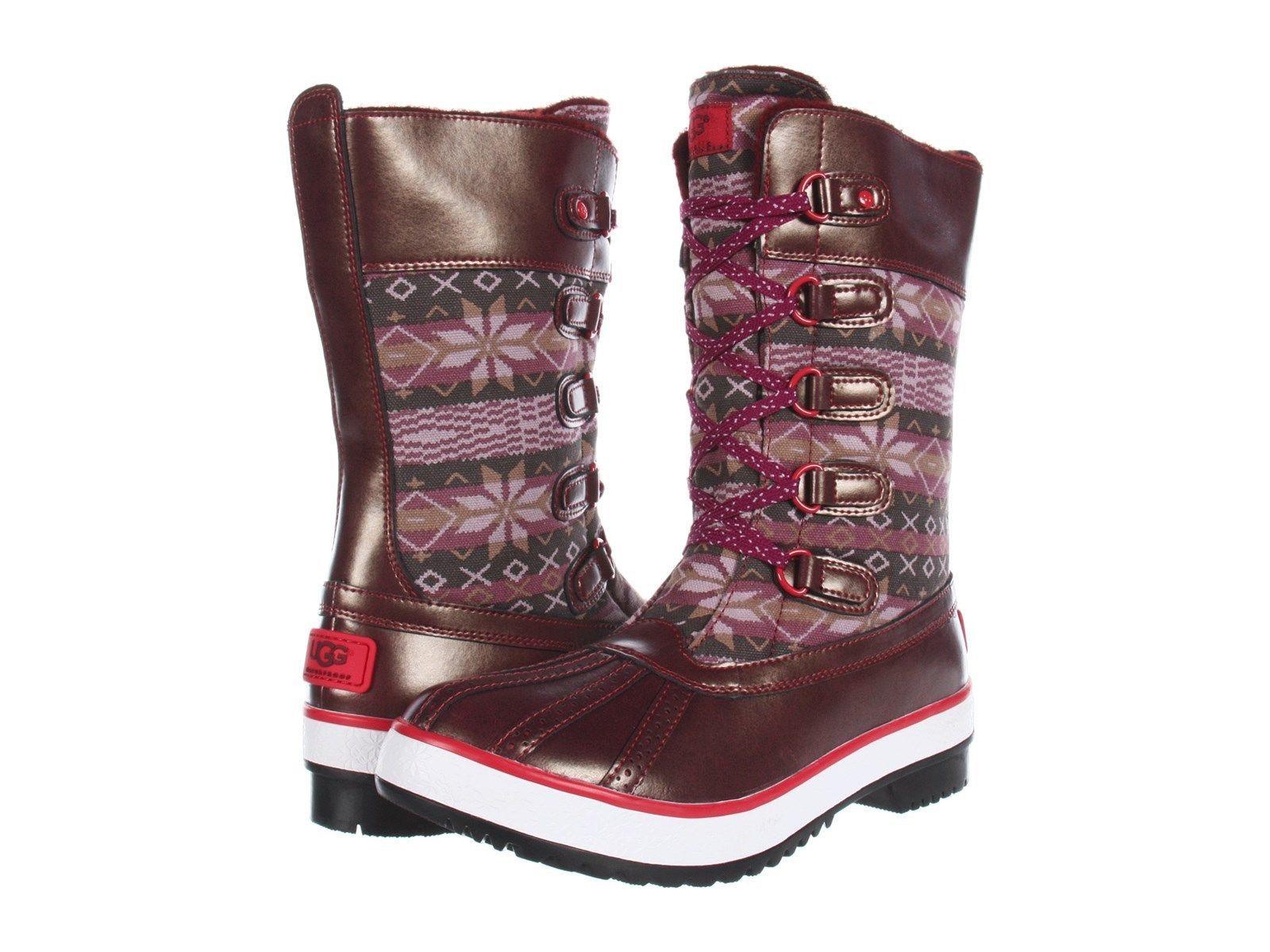 NEW UGG Australia Baroness Lace Up Winter Rain Boots 6