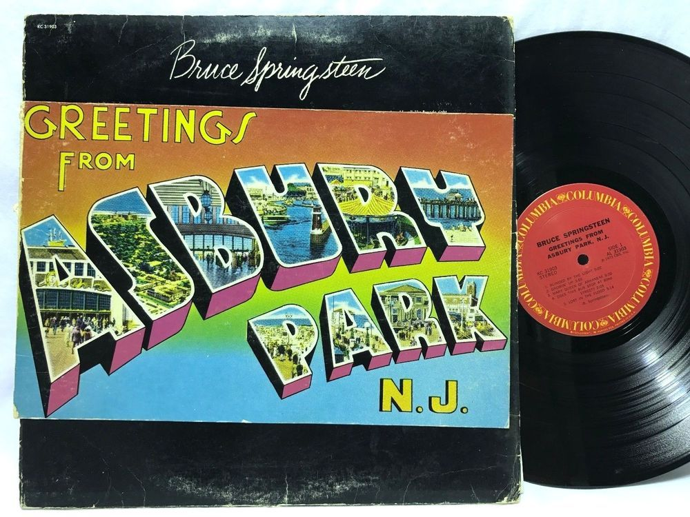 Bruce Springsteen Greetings From Asbury Park Columbia Lp Vinyl Records Lp Vinyl Asbury Park Vinyl Records