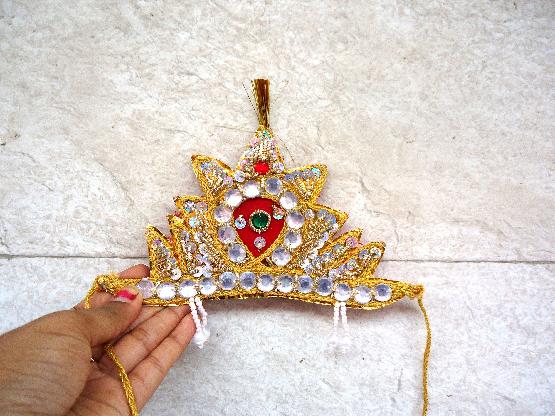 Krishna Kids Crown Radha Kids Mukut Kanha Baby Party Fancy Dress
