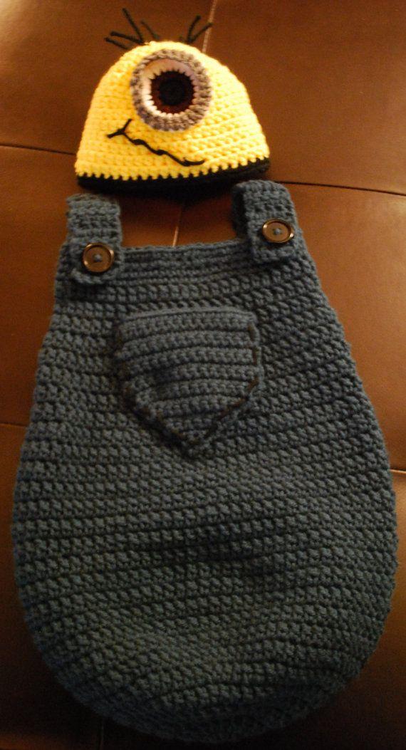 Minion Baby Cocoon and Hat Set | dziergadełka dla dzieci | Pinterest ...