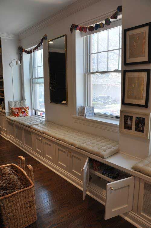 Built In Benches In Almost Anywhere Of A Home: Living Room Seating Ideas Without Sofa, Built In