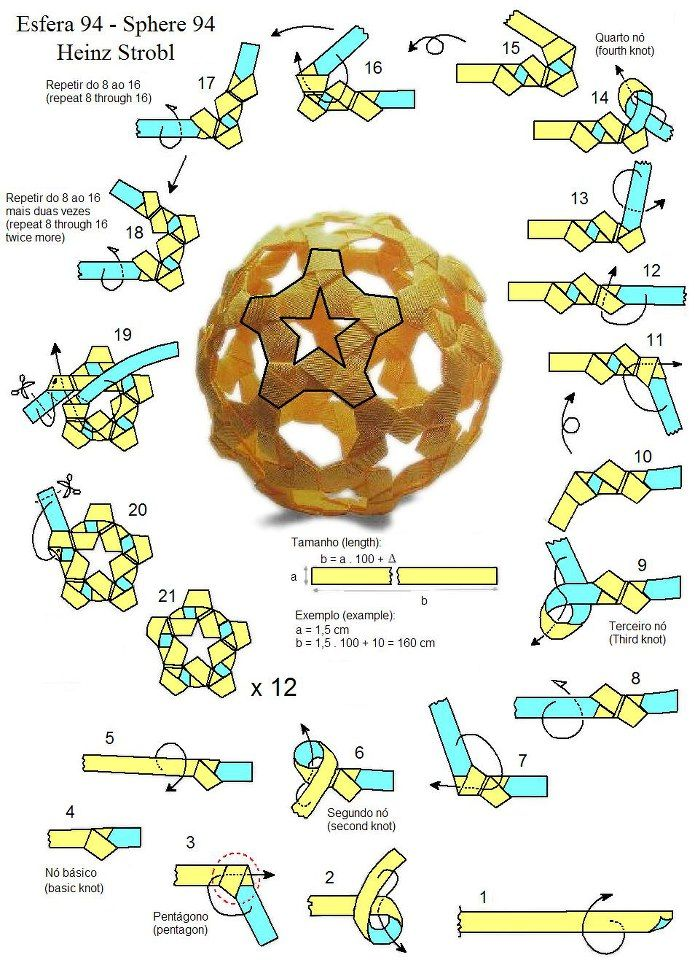 5 Pointed Star Kusudama Sphere Instructions Love To Do Pinterest