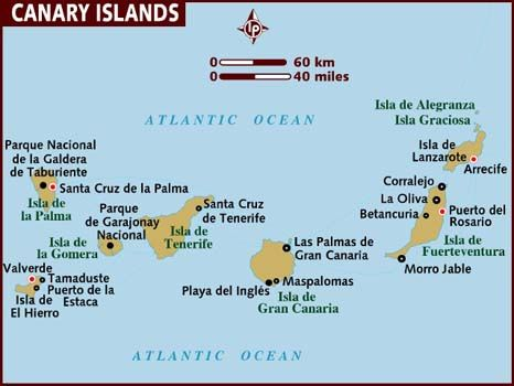 Map Of Canary Islands Canary Islands Spain Canary Islands Island