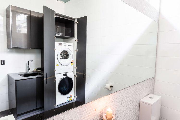 Trockner Waschmaschine Badezimmer Schrank Integriert Grau Hochglanz Schrank Waschmaschine Waschmaschine Trockner Schrank Trockner Auf Waschmaschine