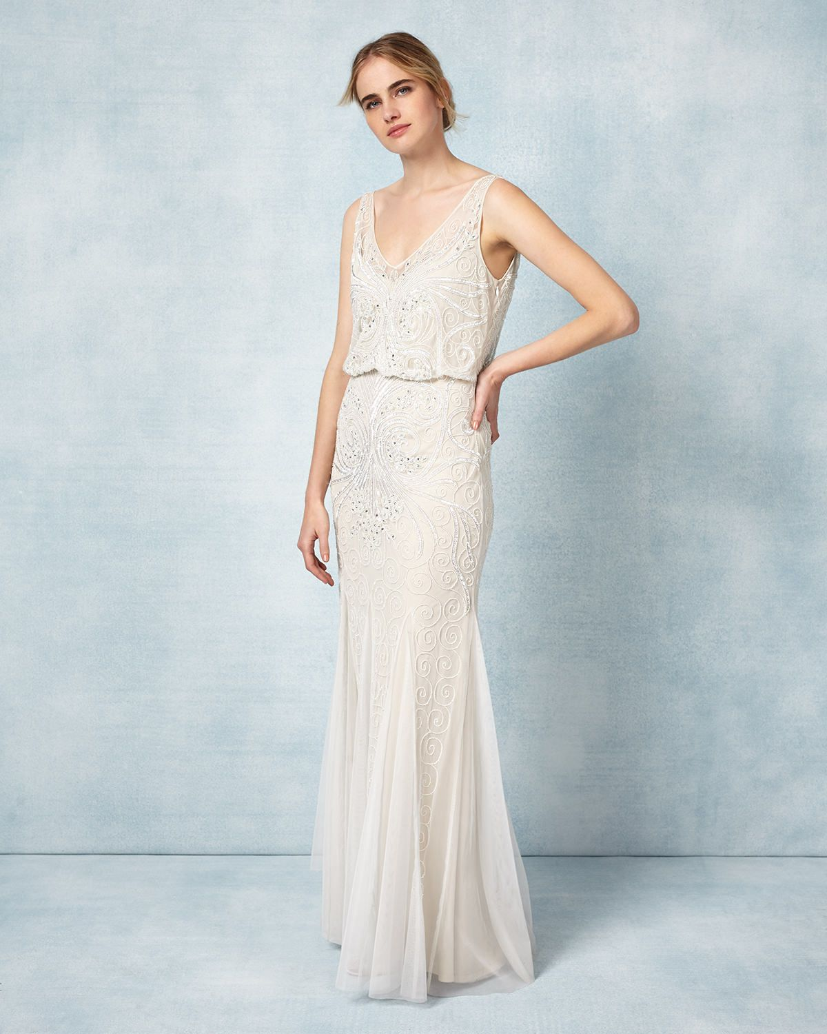 1930s Style Wedding Dresses Phase Eight Cathlyn Bridal Dress 495 00 At Vintaged High Street Wedding Dresses Wedding Dress Inspiration Informal Wedding Dresses