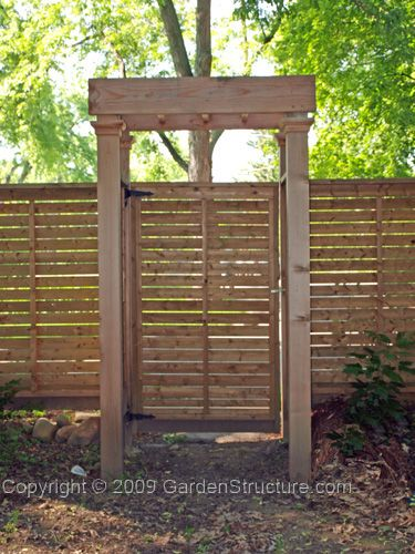 Horizontal Wood Fence Gate horizontal privacy fence with built-in pergola inspired gate
