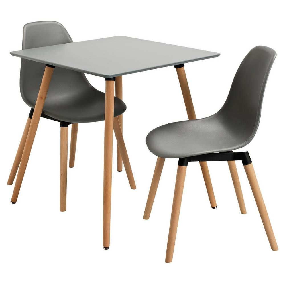 Buy Argos Home Berlin Grey Dining Table & 2 Grey Chairs