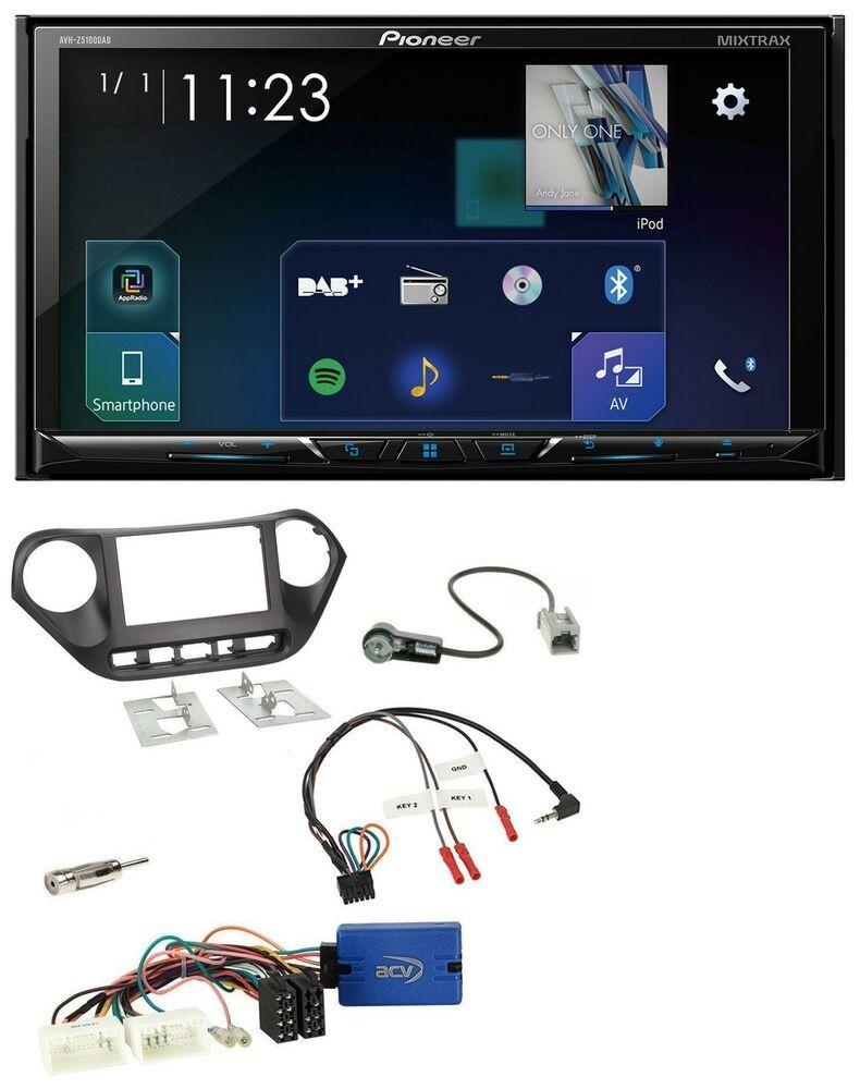 Pioneer Bluetooth Dvd Lenkrad Usb Dab 2din Autoradio Für Hyundai I10 Ab 2014 Gps Smartphone Ipod